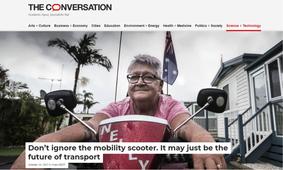 Don't ignore the mobility scooter. It may just be the future of transport